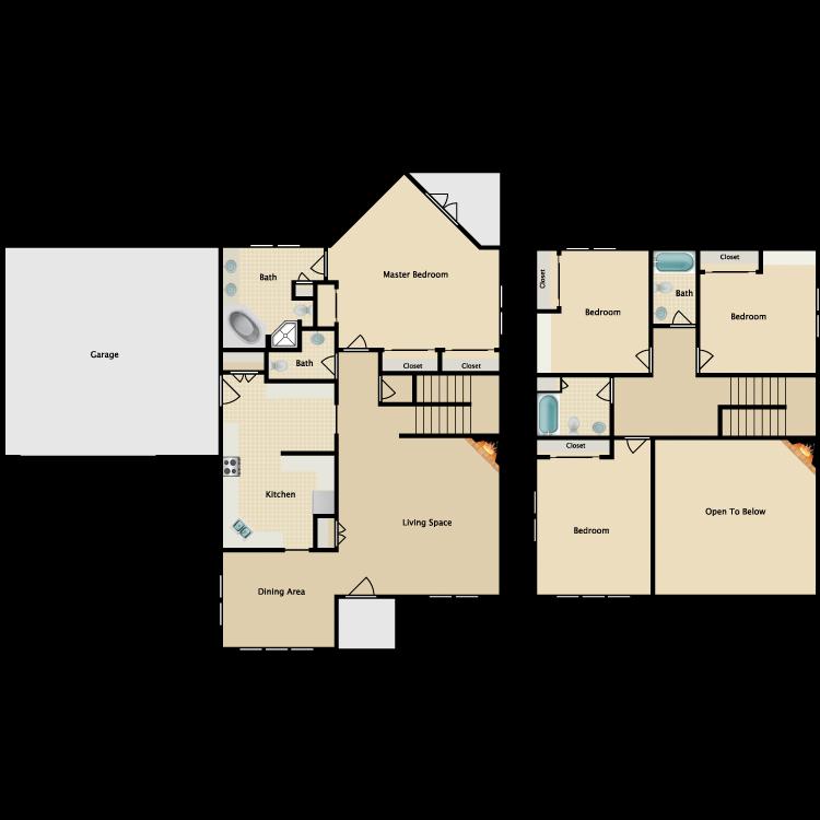 Floor plan image of Sanctuary Full Size Houses