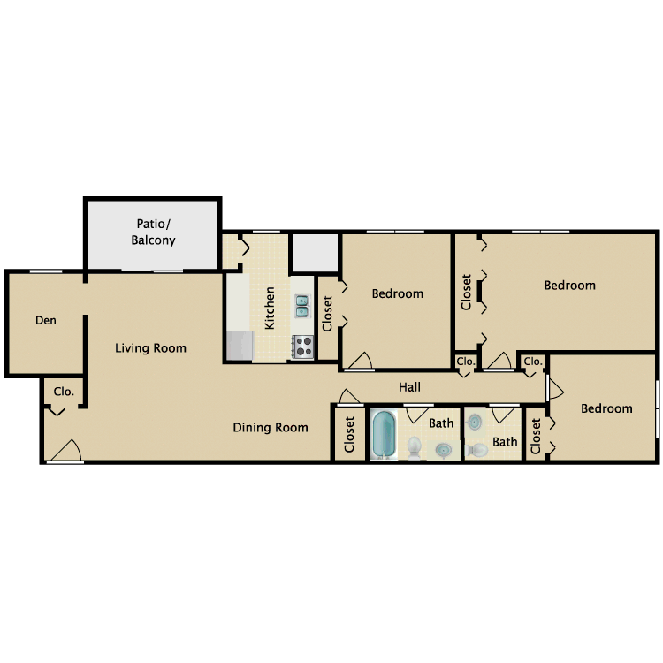 Floor plan image of The Warwick