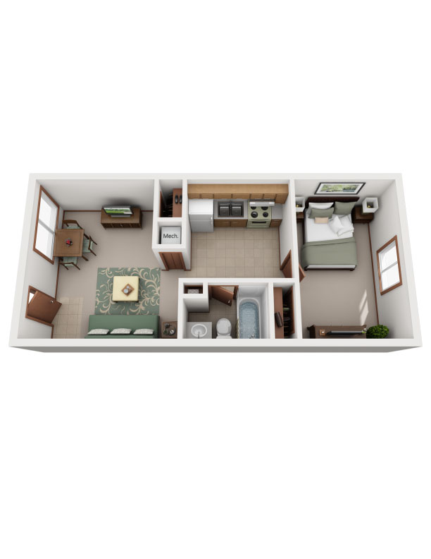 Floor plan image of The Redbud