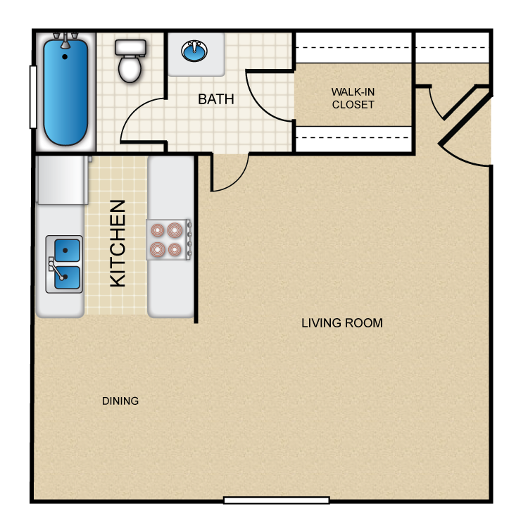 El Floor Plans | El Dorado Apartments Availability Floor Plans Pricing