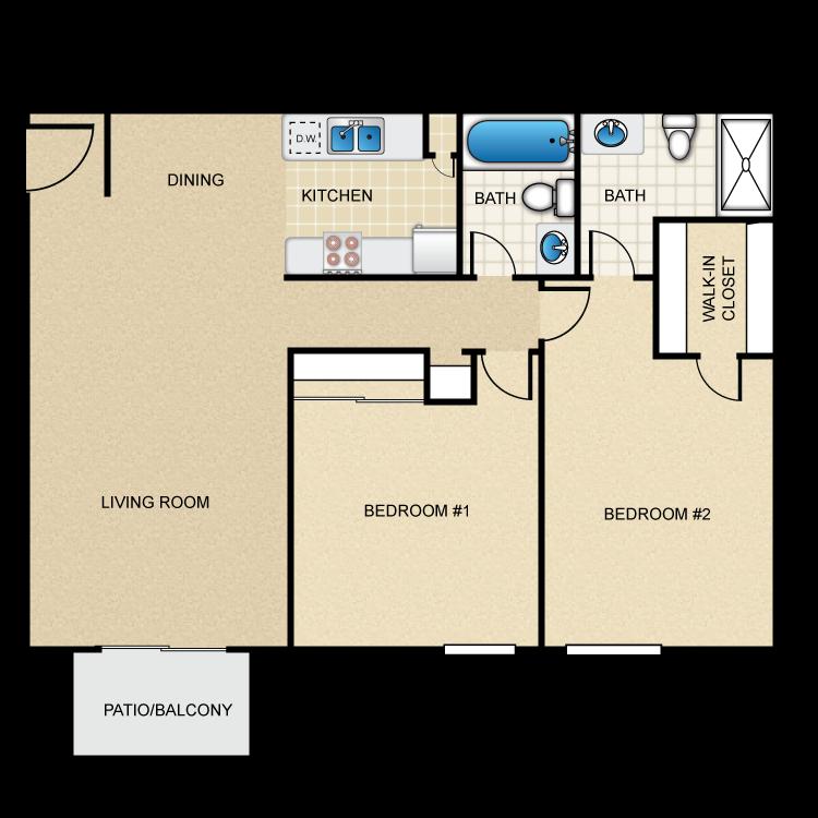 Floor plan image of 2 Bed