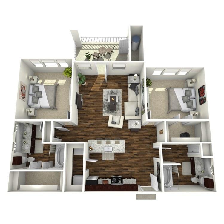 Floor plan image of B2 Grayson