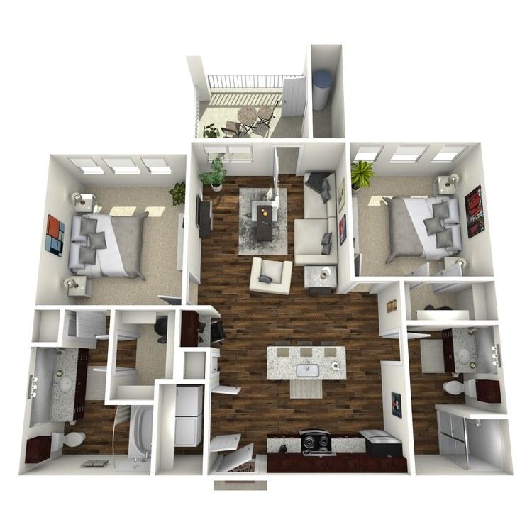 Floor plan image of B1 Firethorne