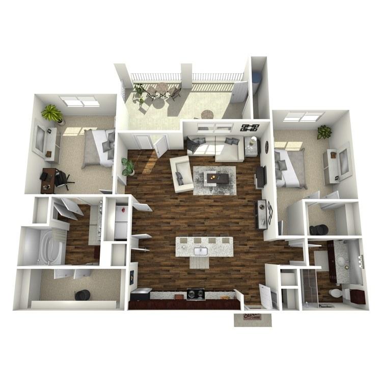 Floor plan image of B3 Sage