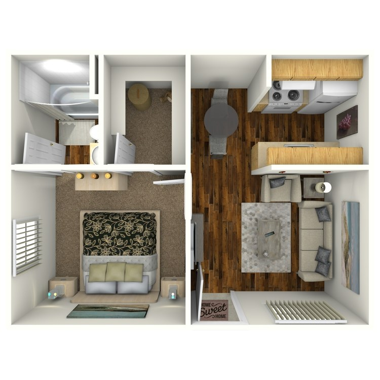Floor plan image of Junior 1 Bed 1 Bath