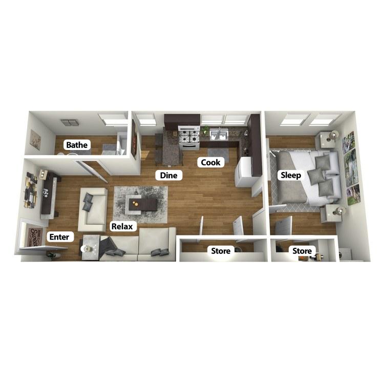 Floor plan image of Brannum Room