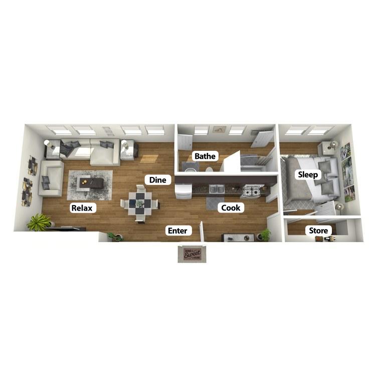 Floor plan image of East Suite