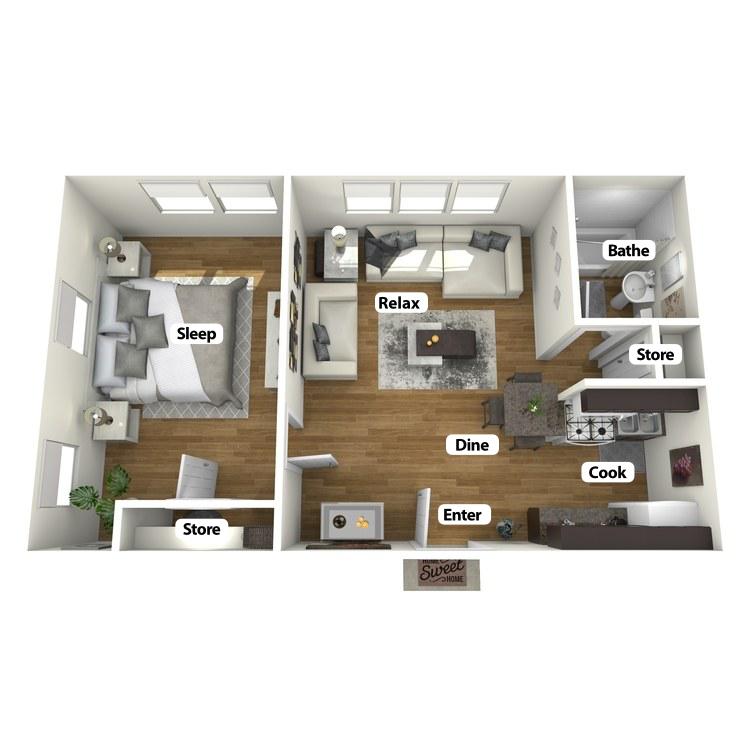 Floor plan image of Julian Room (Corner)