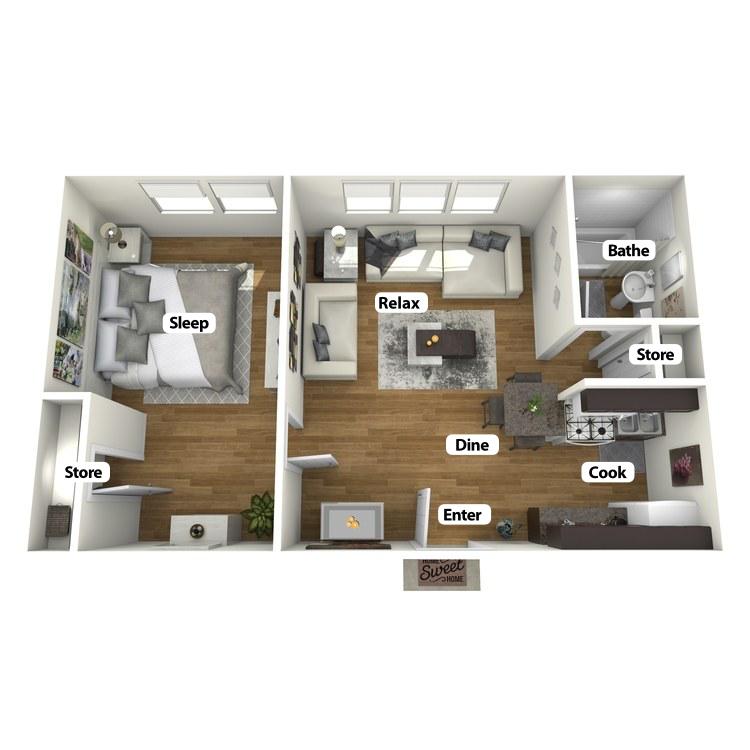 Floor plan image of Julian Room