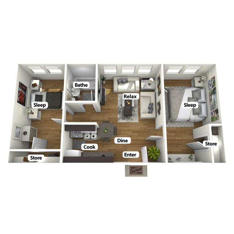 Floor plan image of The Sandusky Suite