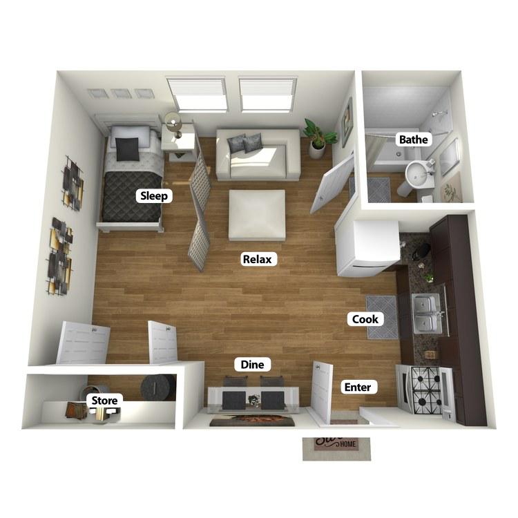 Floor plan image of Schmidlin Studio