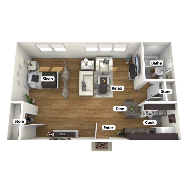 Floor plan image of The Julian Room Studio