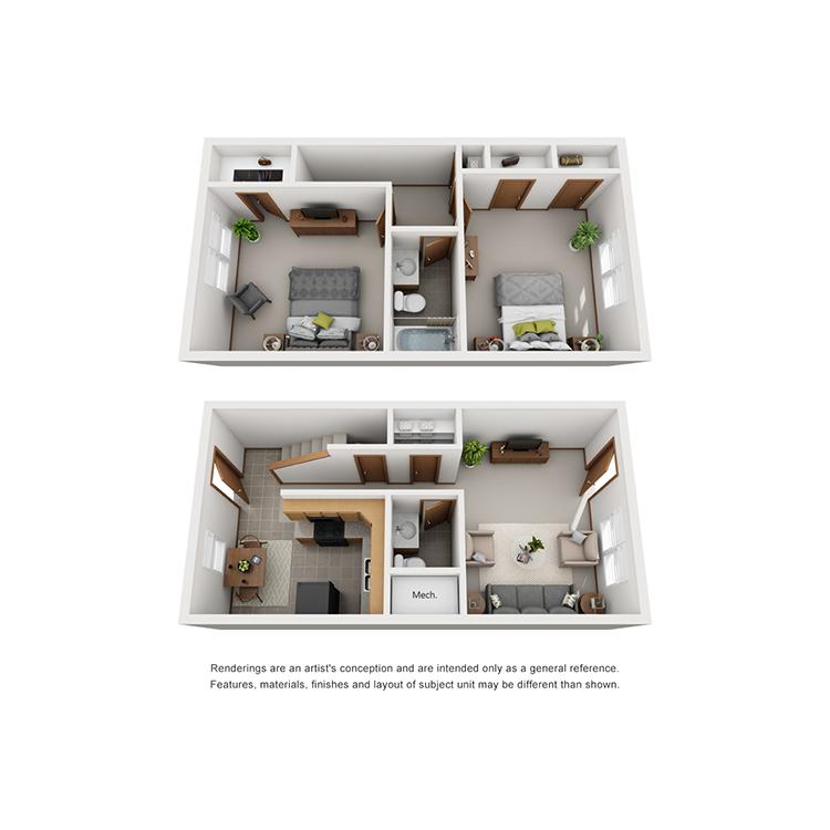 Floor plan image of The Miller