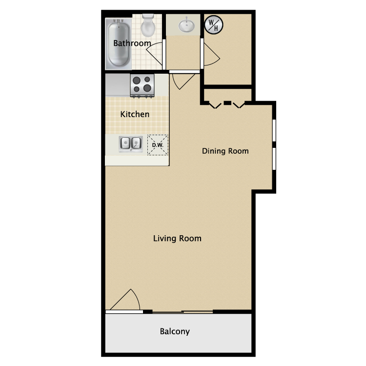 Floor plan image of Studio Deluxe
