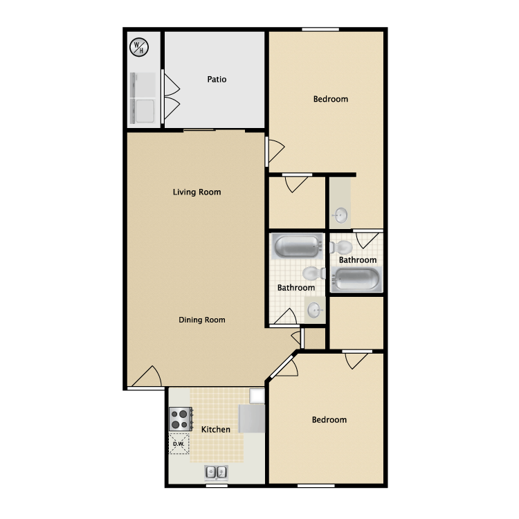 Floor plan image of Patio Home