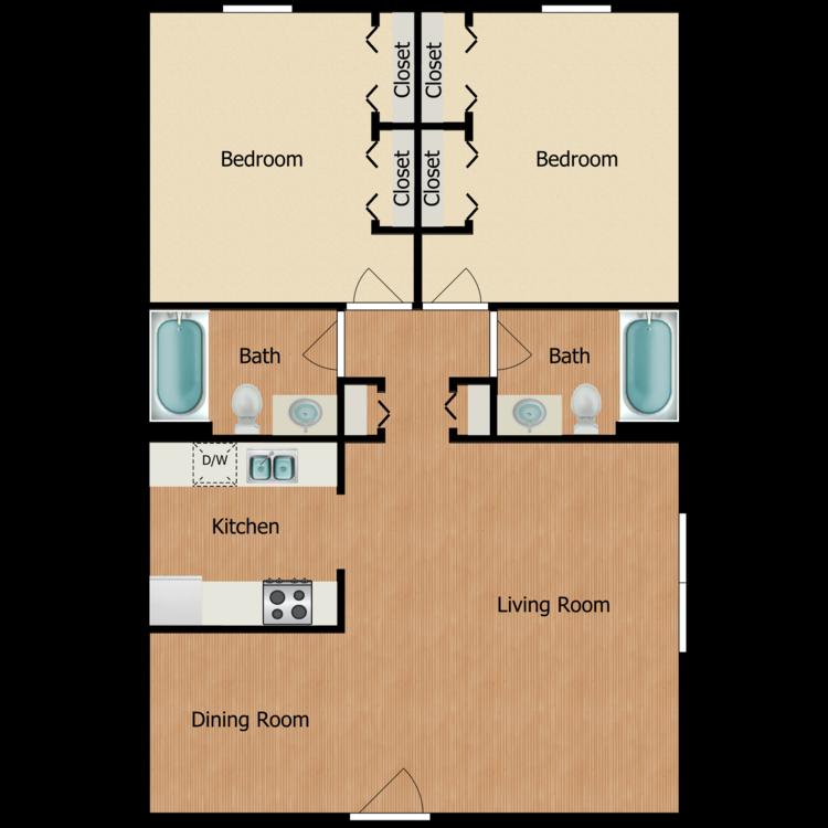 Floor plan image of The University