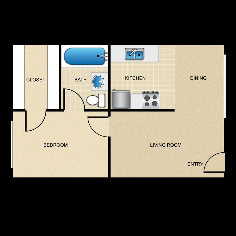 Floor plan image of The Landing 1