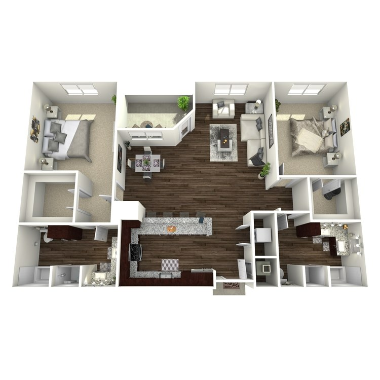 Floor plan image of B3-Highland