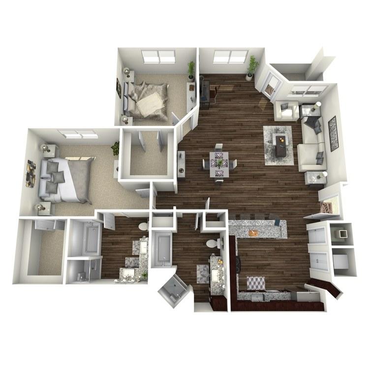 Floor plan image of B7-Highland