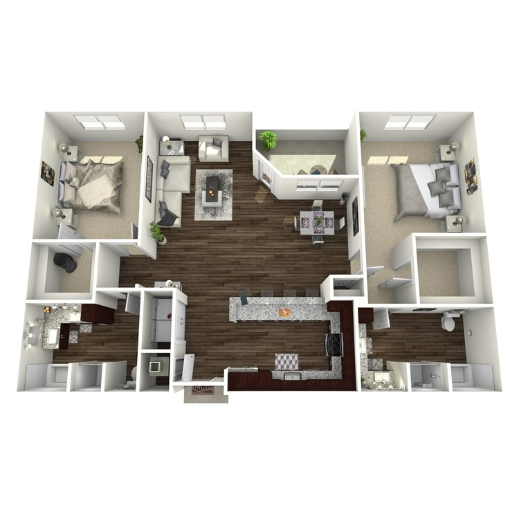 Floor plan image of B3a(ADA)-Highland