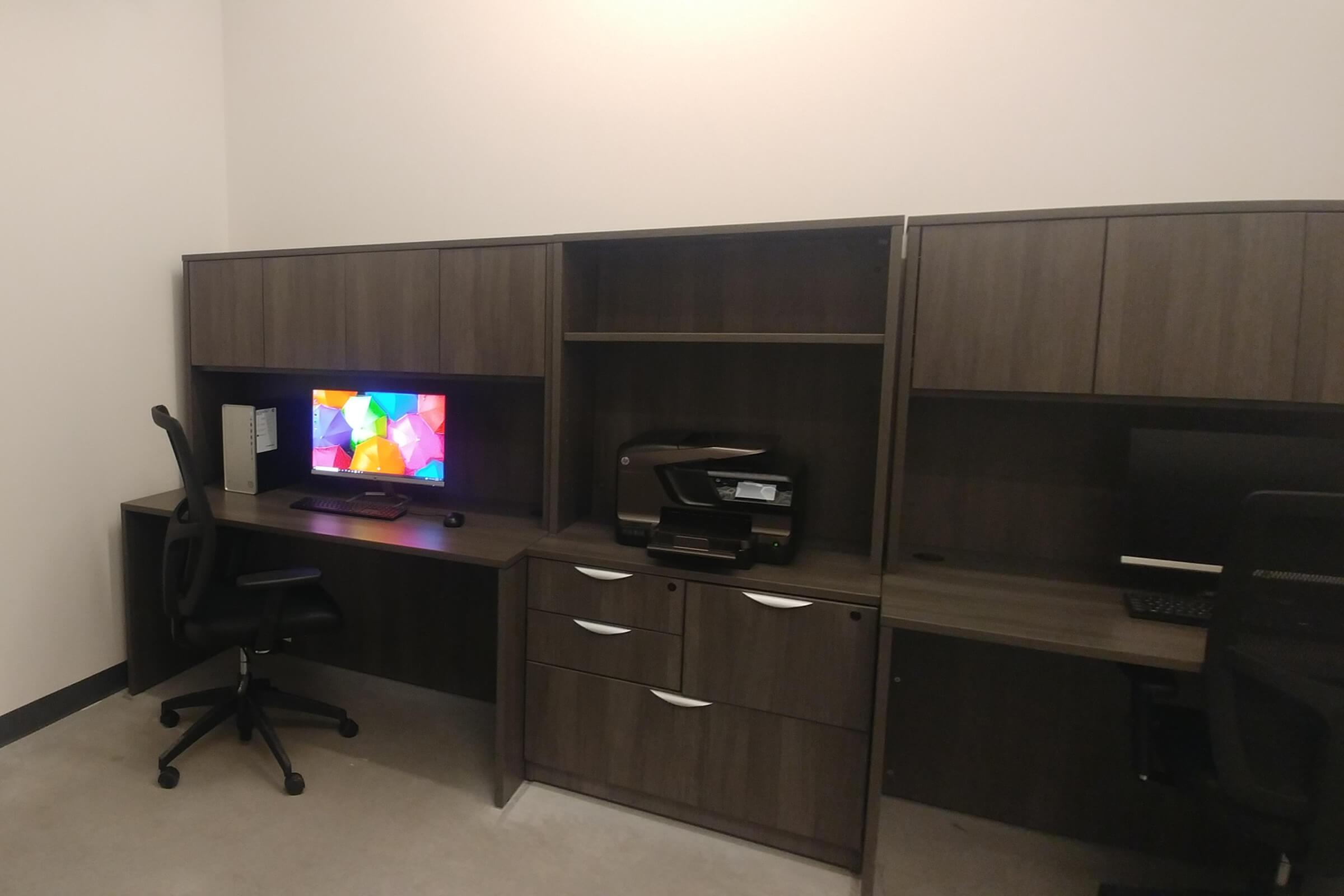 a flat screen tv sitting in a room