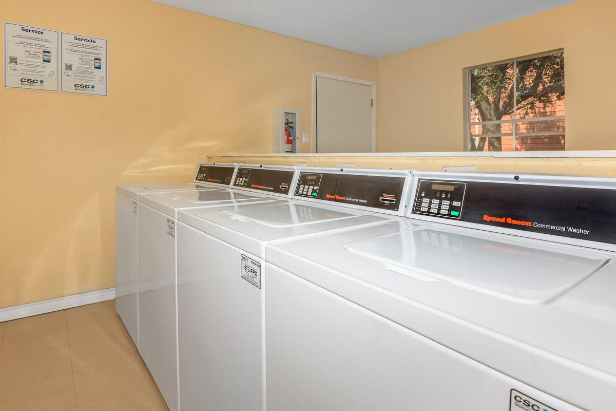 Speed Queen Commercial Washers in the laundry facilities at The Park at Summerhill Road
