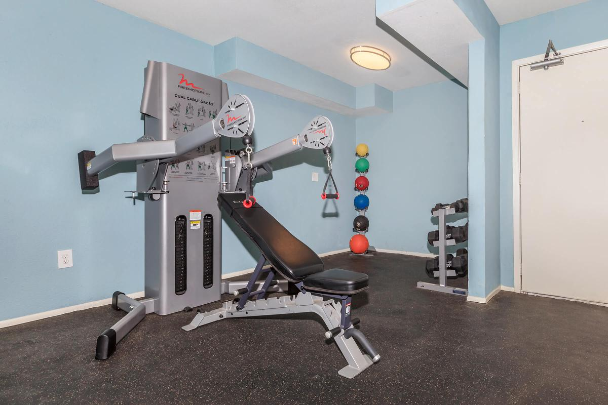 The fitness center at The Park at Summerhill Road