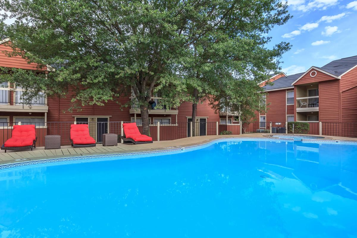 View the pool from your balcony or patio