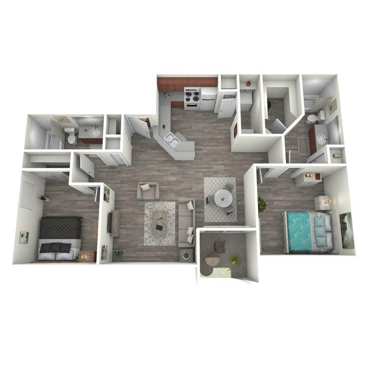 Floor plan image of Two Bedroom II