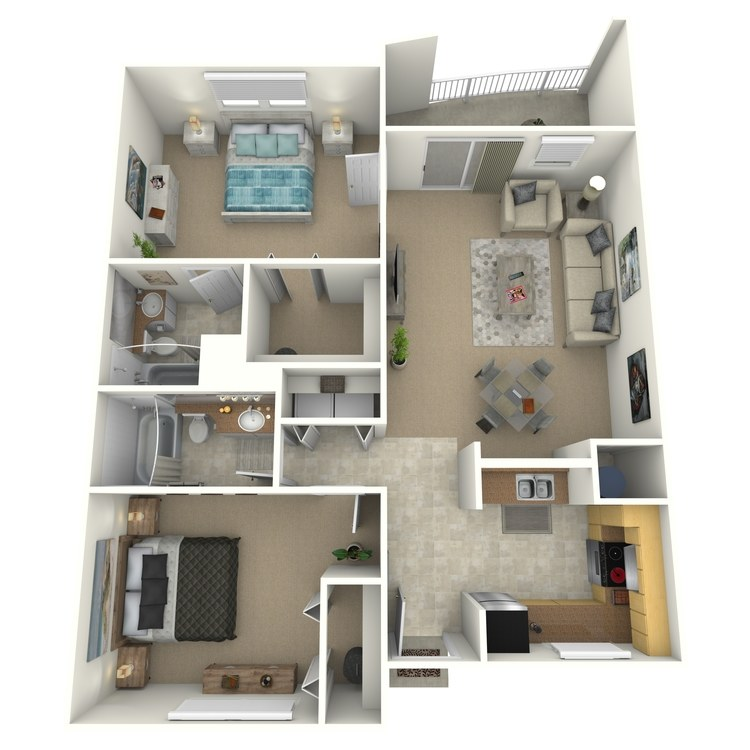 Floor plan image of Deluxe Furnished