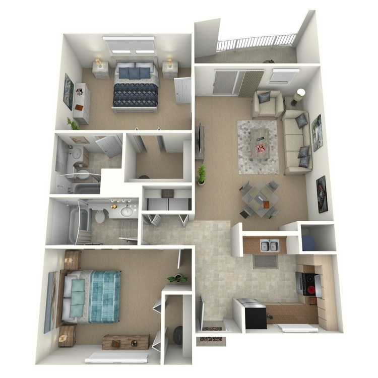 Floor plan image of Kerry Furnished