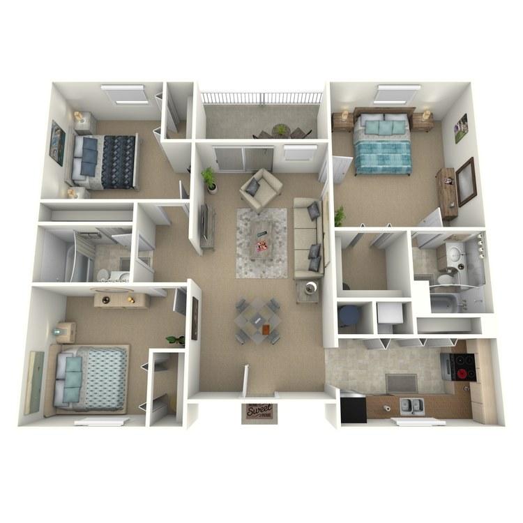 Floor plan image of Tullamore Furnished