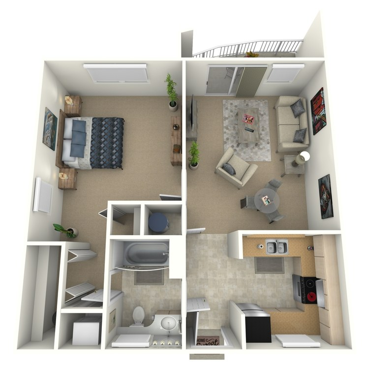 Floor plan image of Clare Furnished