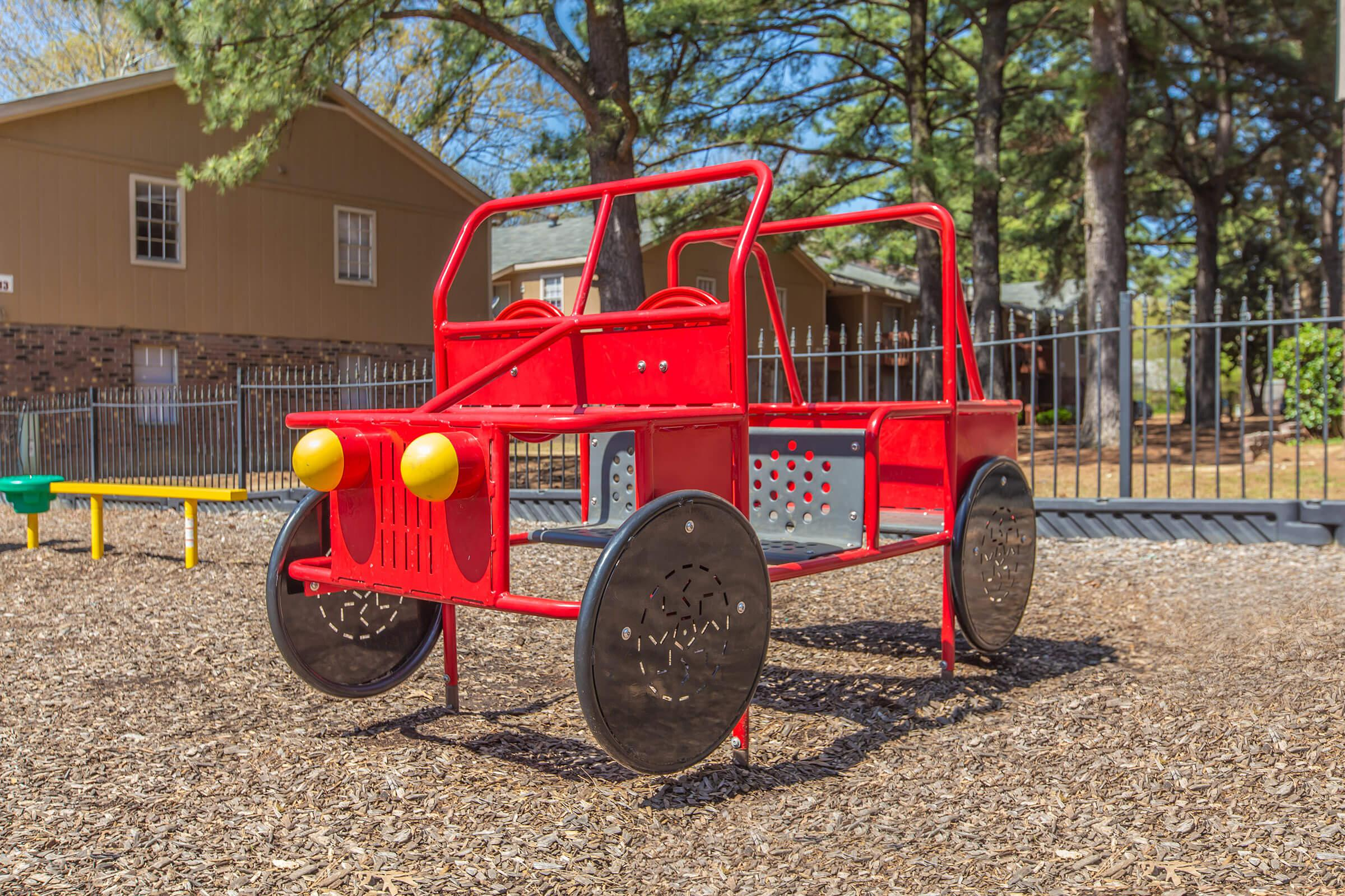 a tractor in a park