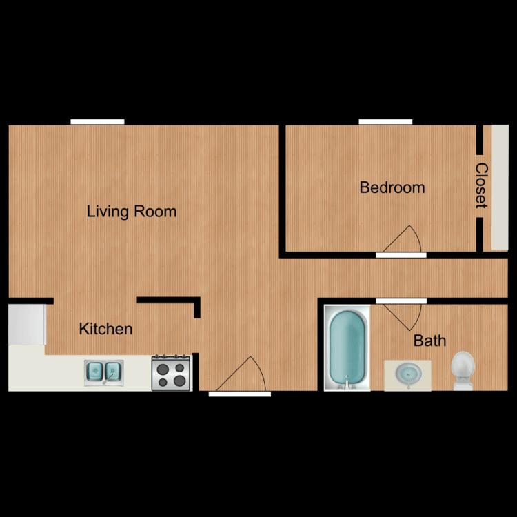 Floor plan image of 1 BR