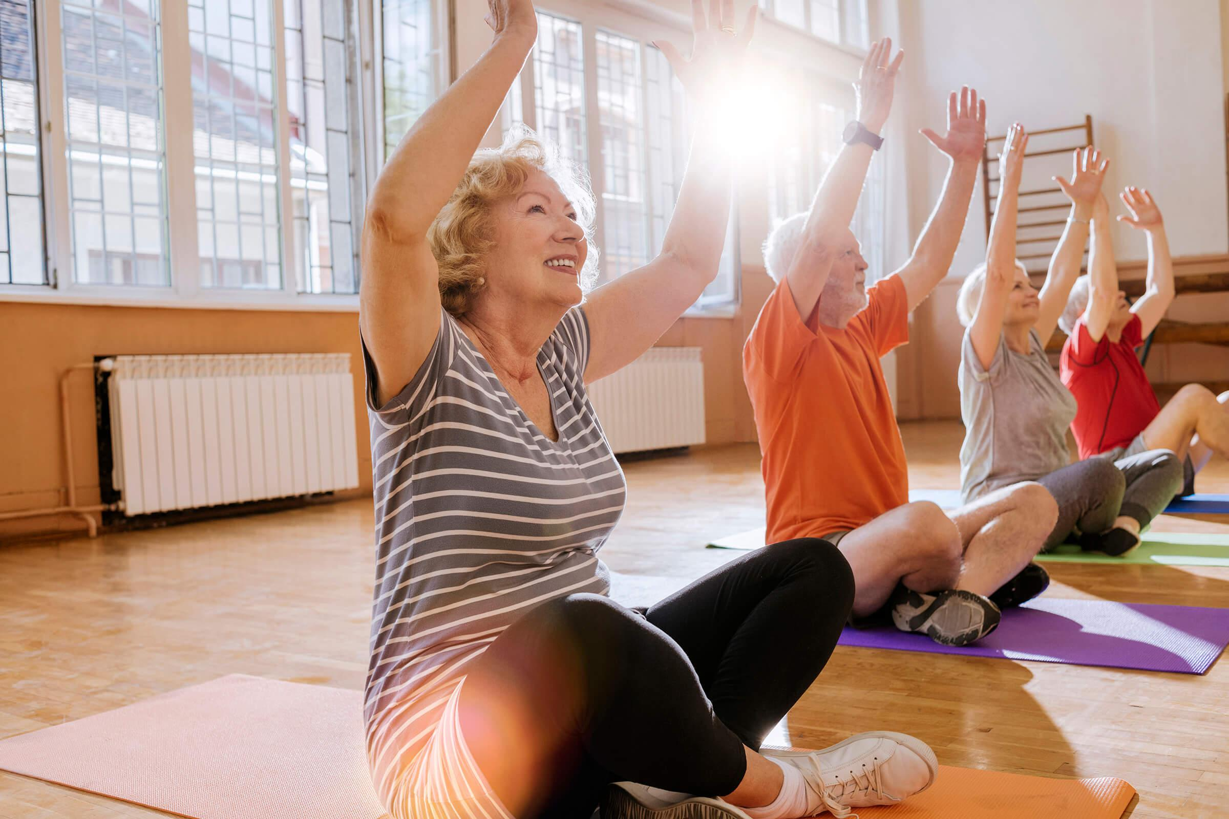 fitness classes from our active adult living community