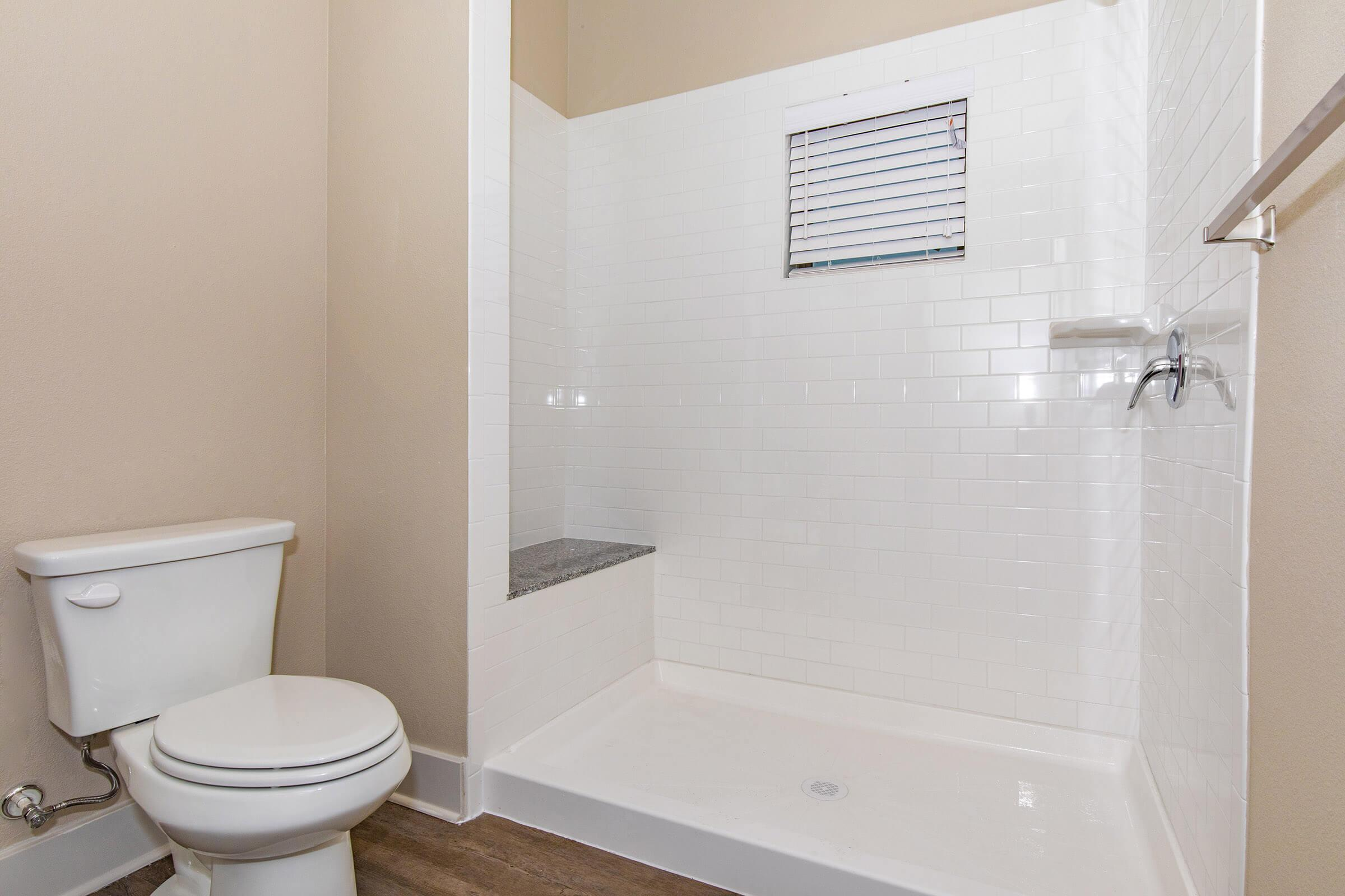 stand-in shower  in our active adult living community