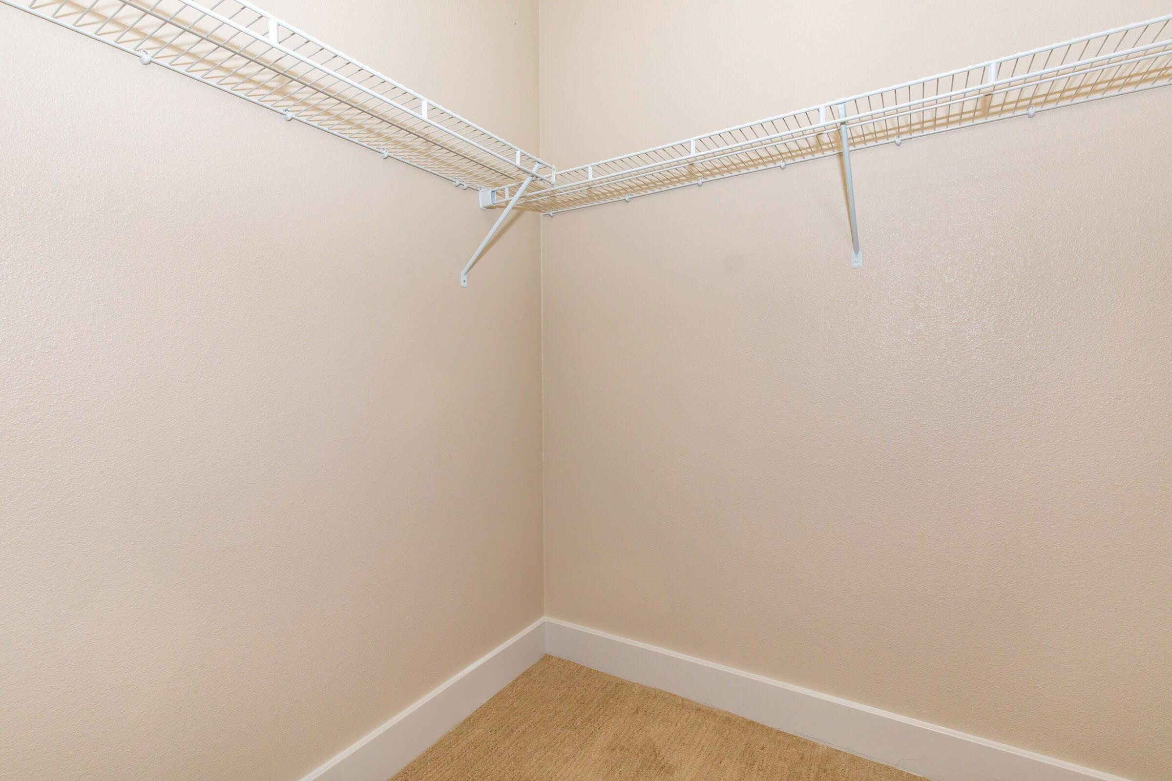 walk-in closets  in our active adult living community