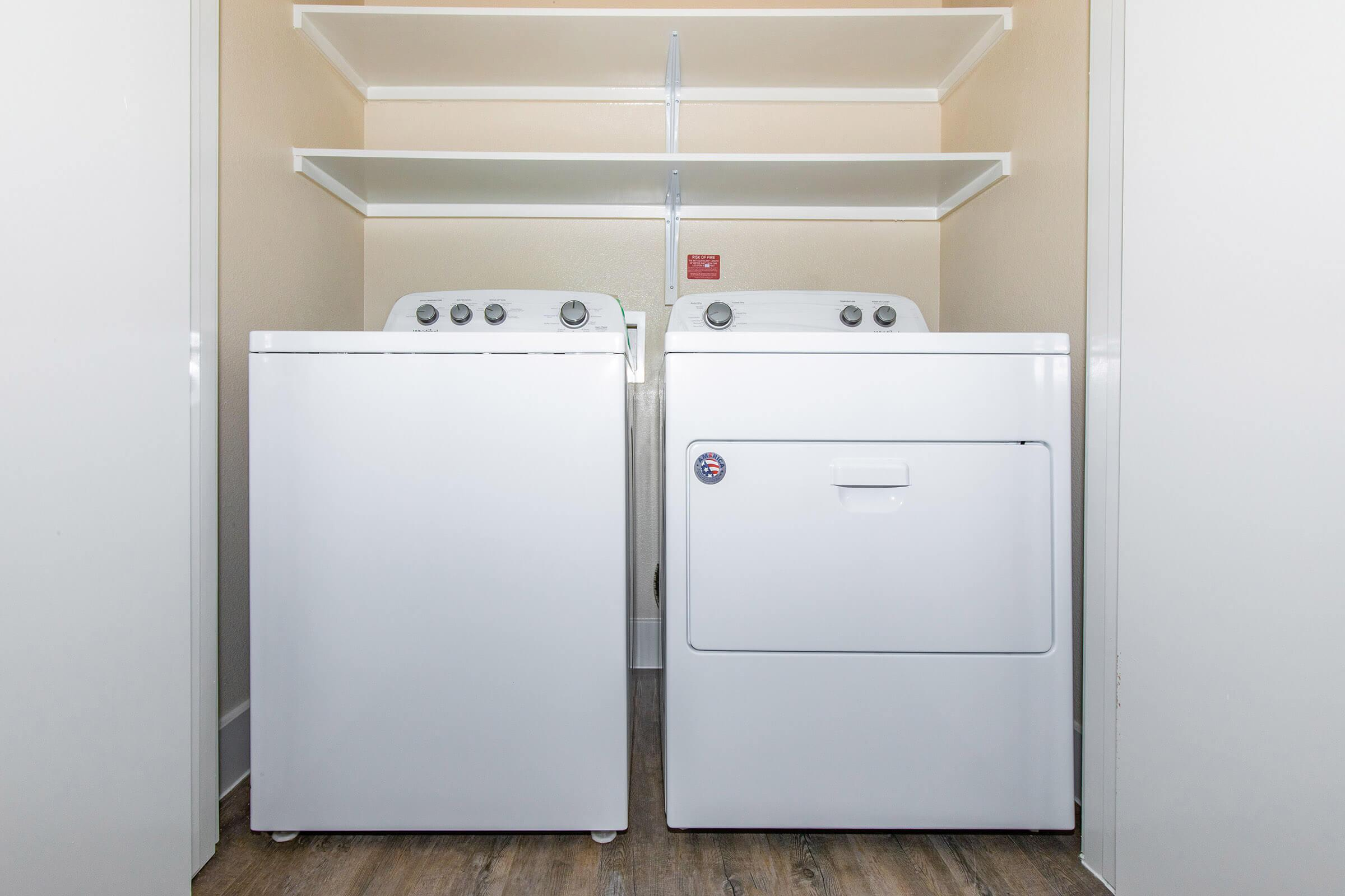 washer and dryer in our active adult living community