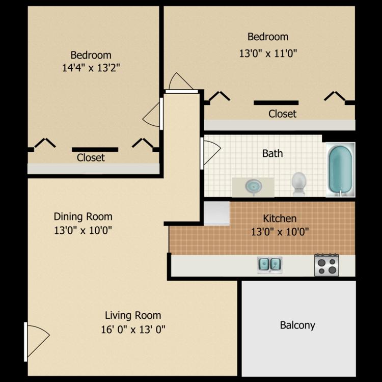 Floor plan image of Pine