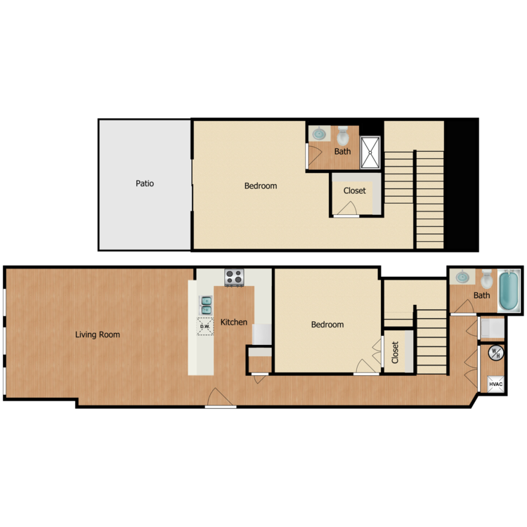 Floor plan image of 2 Bed 2 Bath F