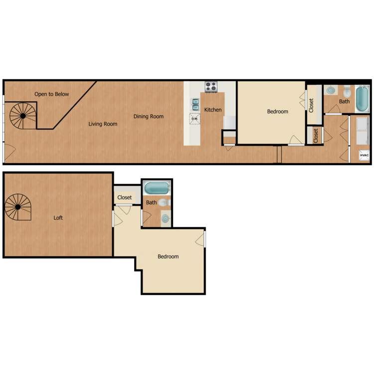 Floor plan image of 2 Bed 2 Bath G