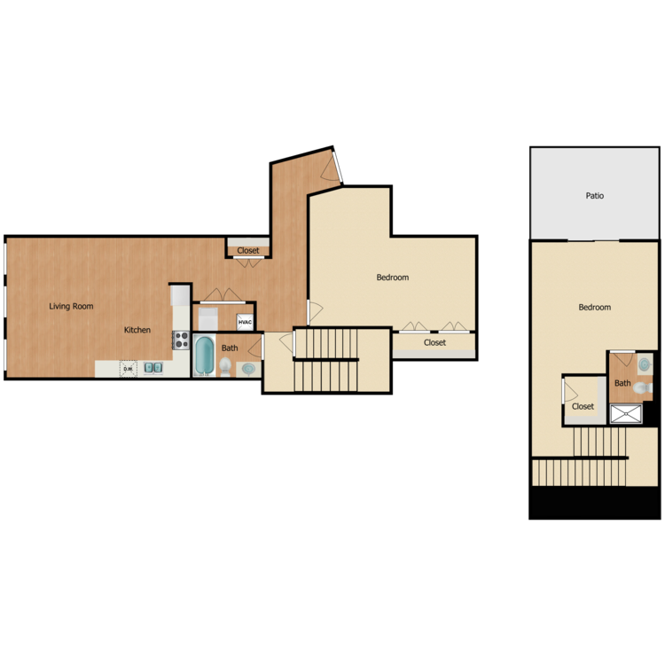 Floor plan image of 2 Bed 2 Bath H