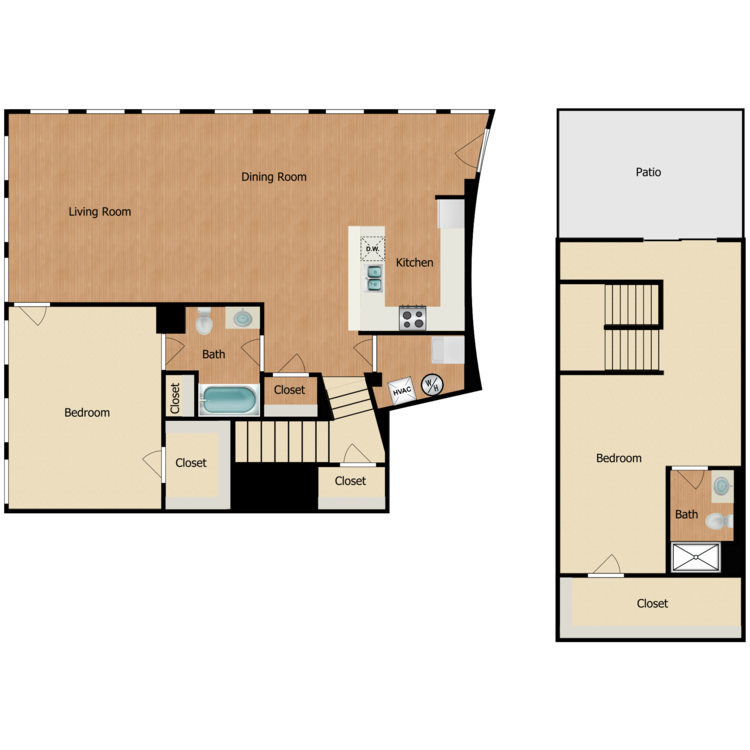 Floor plan image of 2 Bed 2 Bath I