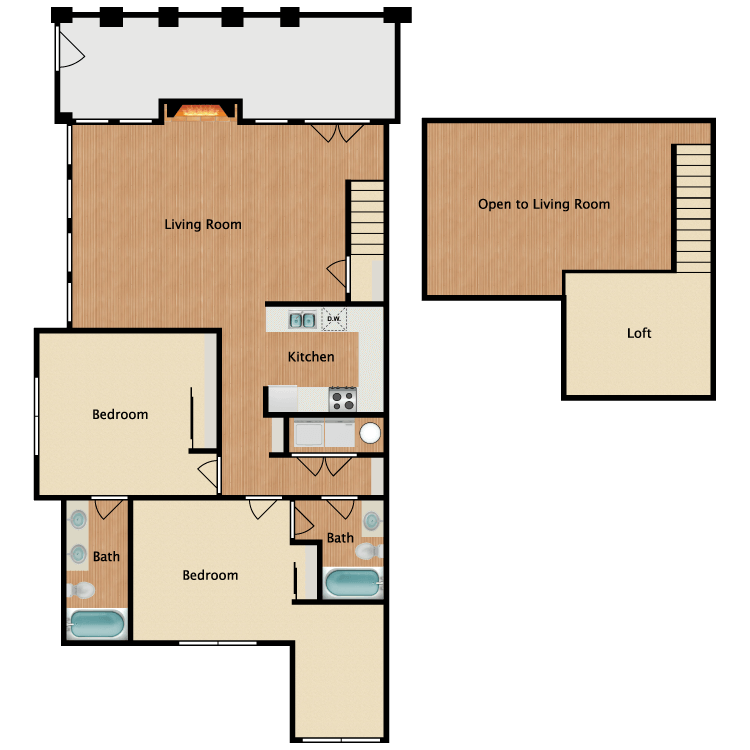 Floor plan image of Cabana Loft