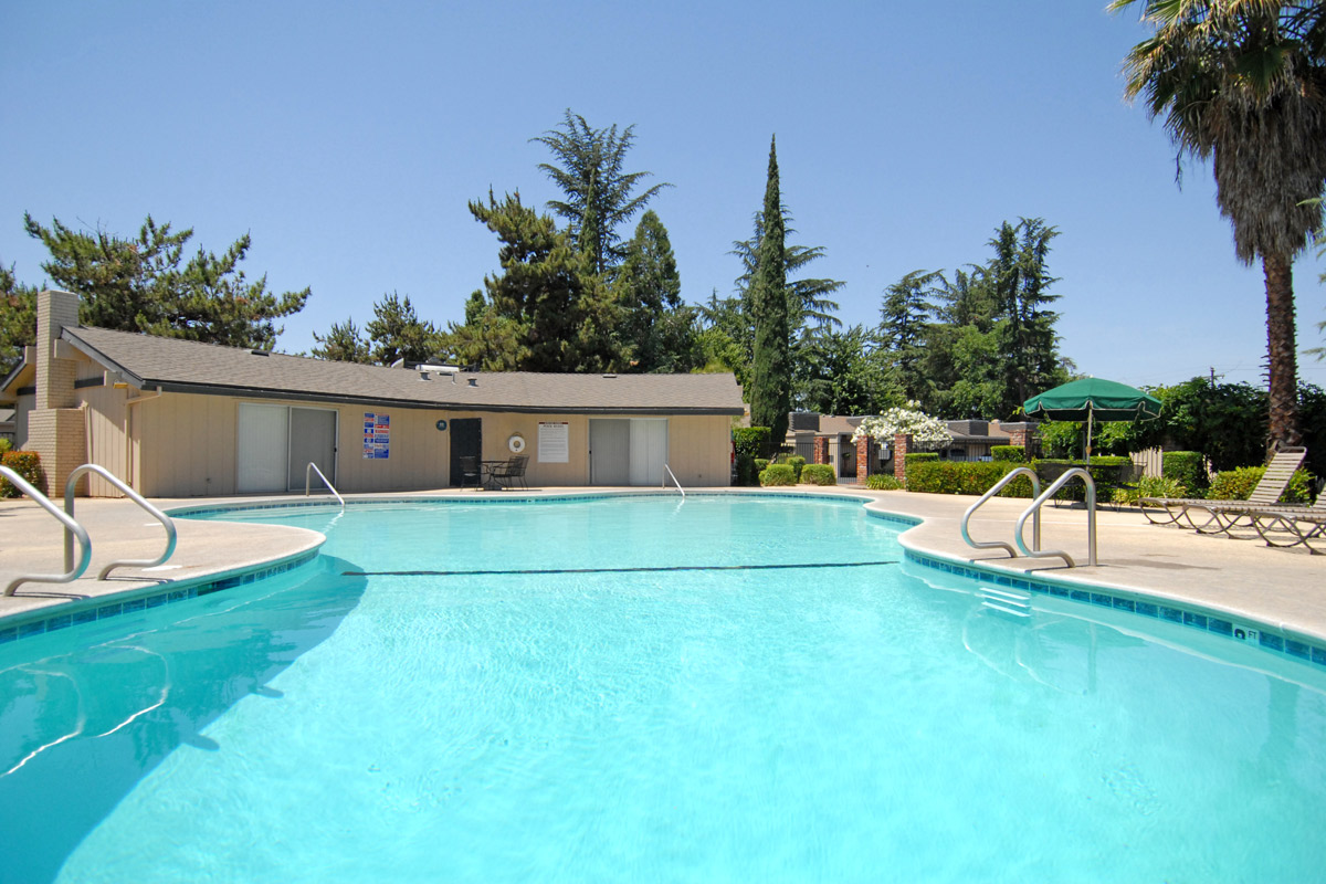 Take a dip in the pool at Rancho Sierra