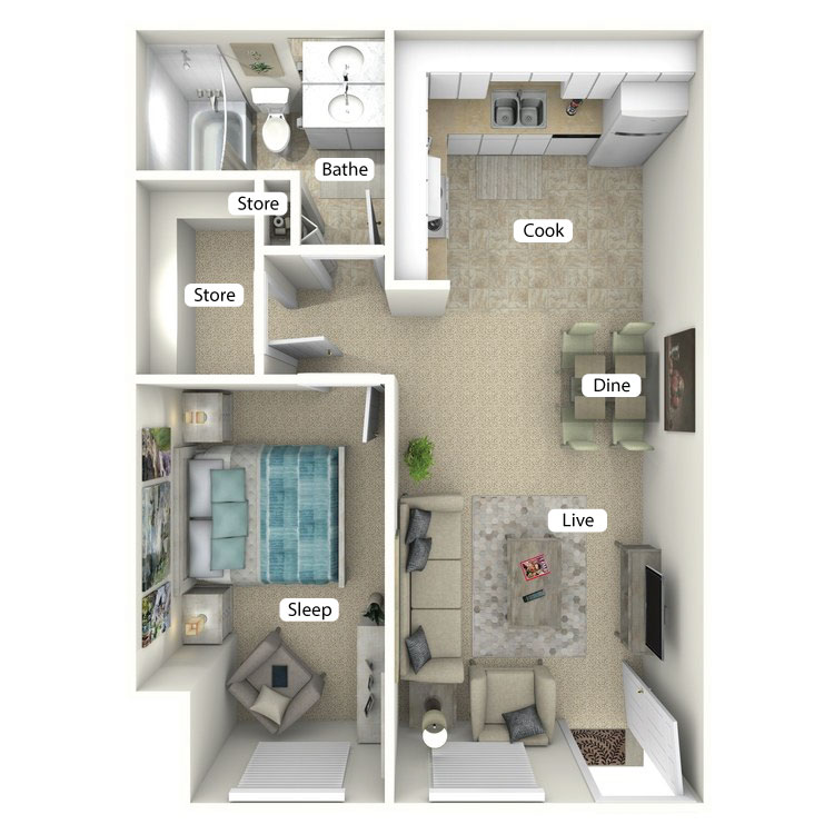 Floor plan image of The Surf