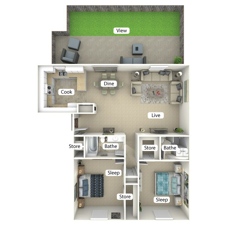 Floor plan image of The Cove