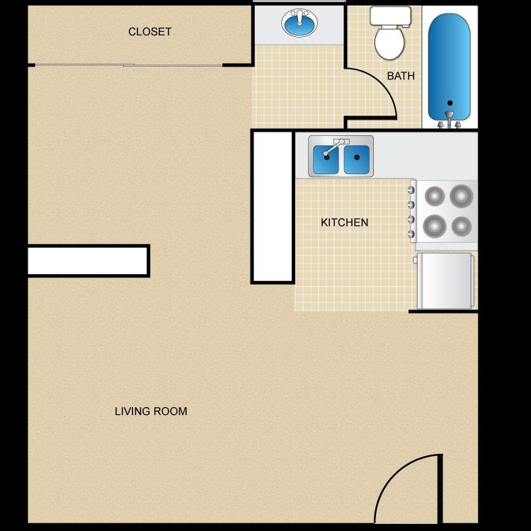 Studio floor plan has been updated!