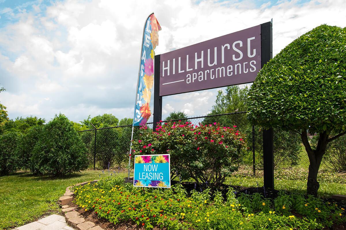Monument Sign at Hillhurst Apartments